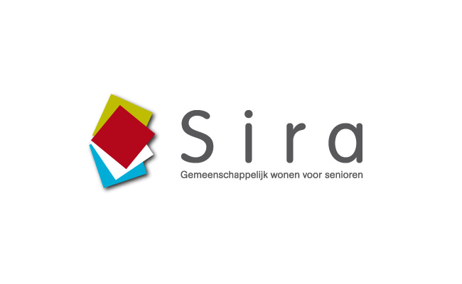 Ontwerp logo Sira gemeenschappelijk wonen voor senioren © BizBis