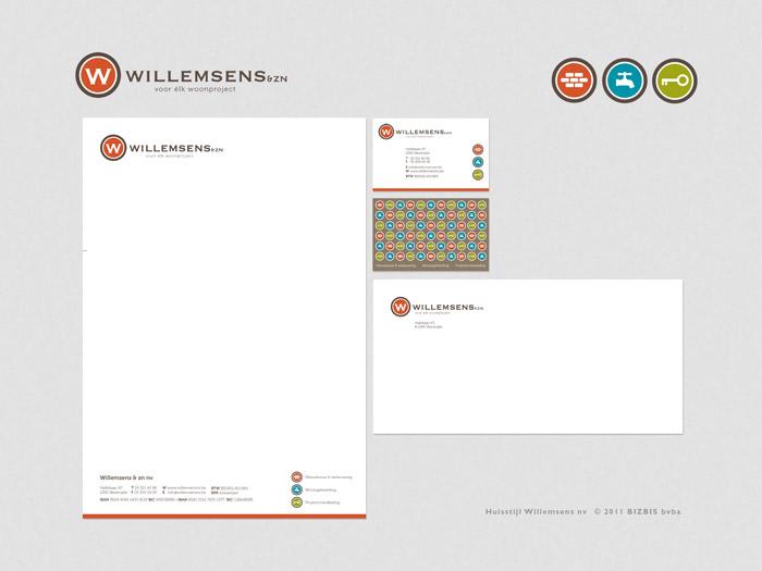 huisstijl logo Willemsens & zonen © BizBis