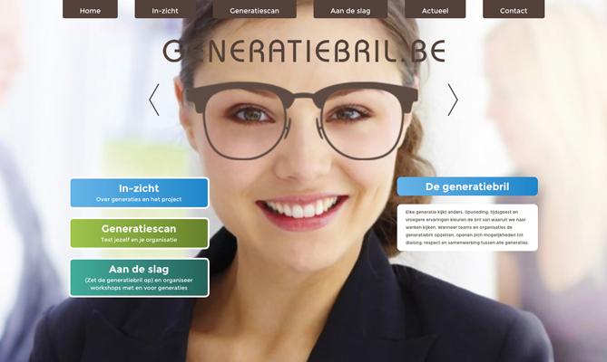 website generatiebril.be om interactie en samenwerking tussen de generaties op de werkvloer te bevorderen: onderzoek Wise Hogeschool Gent © BizBis