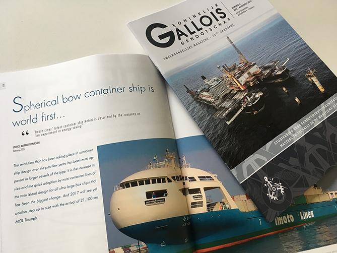 tweemaandelijks tijdschrift Koninklijk Gallois Genootschap Lay-out, productie, print en verzending onder folie © BizBis