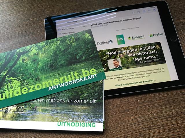 event e-mailing uitnodiging minisite Subrosa Crelan Pascal Paepen © BizBis