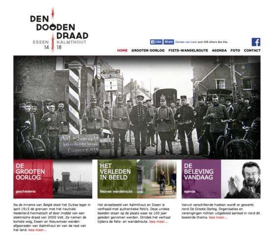 website met agenda in tijdslijn doodendraad herdenking WO1 © BizBis